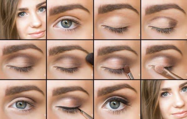 Макияж глаз с тенями для век Лореаль