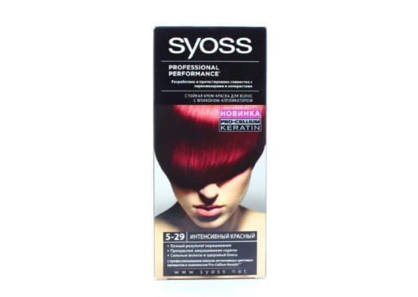 Красная стойкая краска для волос Syoss