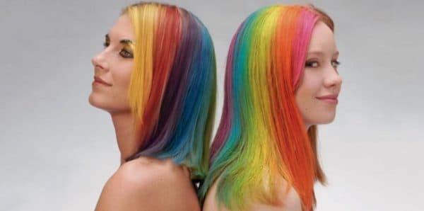 Окрашивание волос спреем краской для волос Yniq