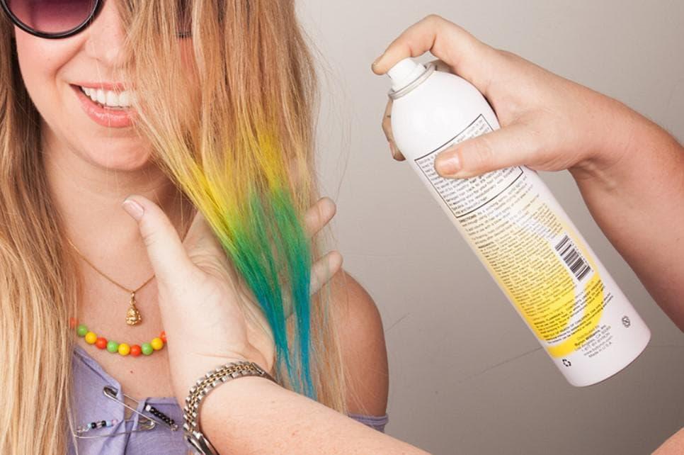 Смываемая краска для волос на один день для окрашивания корней, отзывы о спрее