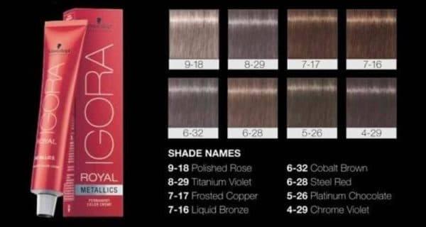 Палитра краски для волос Игора