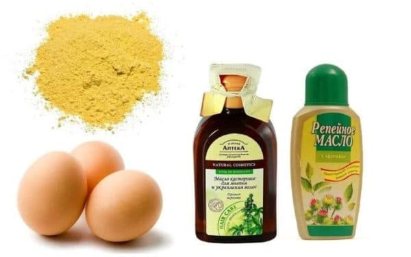 Маска с касторовым маслом и яйцом при сильном выпадении волос у женщин