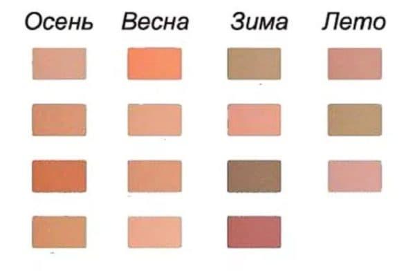 Выбор пудры по цветотипу кожи