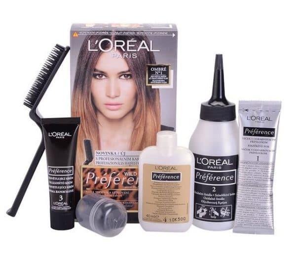 Наполнение упаковки (серия омбре) краски для волос Лореаль Преферанс
