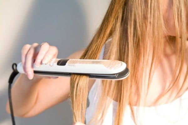 Применение утюжка для волос