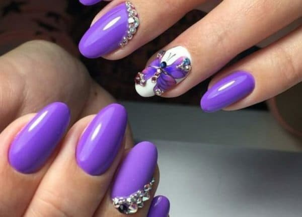 Декор на ногтях покрытых гель лаком