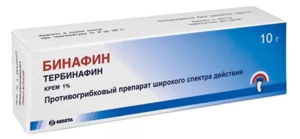 Бинафин крем от грибка ногтей