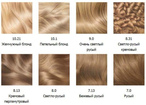 Палитра блонд краски для волос Olia Garnier